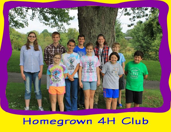 Homegrown 4H Club Members