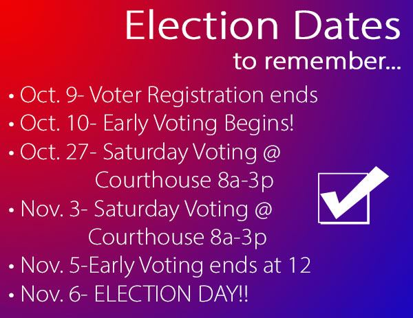 Election Dates to remember
